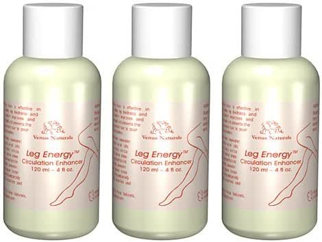 Leg Energy 3 Bottles - Lotion for Varicose Veins and Poor Leg Circulation - Best Value Pack