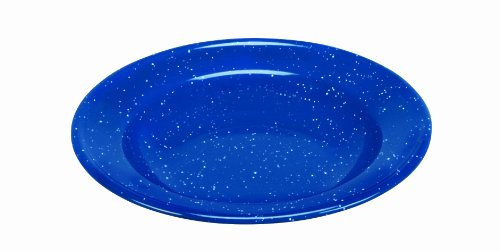 Cinsa 311350 Camp Ware Soup Plate, 20-Ounce, Royal Speckled Blue