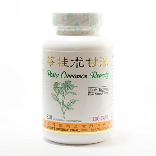 Poria Cinnamon Remedy Dietary Supplement 500mg 100 capsules (Ling Gui Zhu Gan Tang) E18 100% Natural Herbs