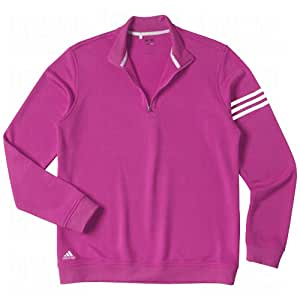 Adidas 2013 Men's ClimaLite 3-Stripes Pullover (Raspberry/Navy - M)