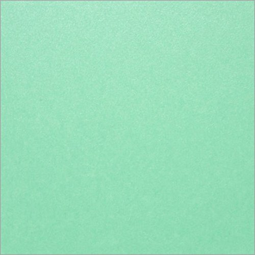 6 1/4 Square Lagoon Metallic Flat Invitation Card, Stardream 105lb, 25 (Stardream Lagoon Square)
