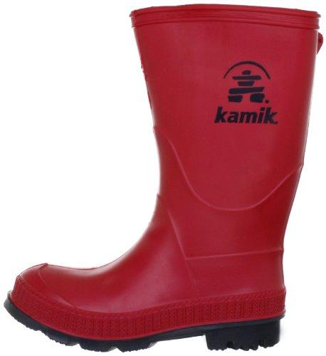 Kamik Stomp Rain Boot (Toddler/Little Kid/Big Kid),Red,4 M US Big Kid