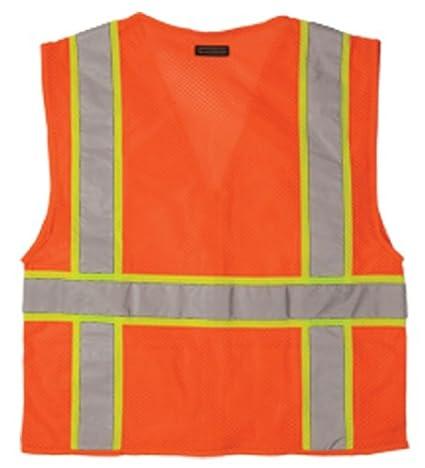 Orange 1196 L ML Kishigo 1196 Ultra-Cool Polyester Mesh Multi-Pocket Vest Large