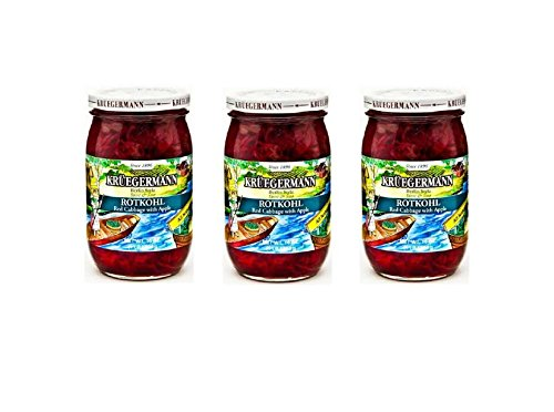 SHIPS FREE Get 3 (16 fl.oz) Kruegermann Rotkohl Red Cabbage with Apple (48 - Apple And Cabbage Red