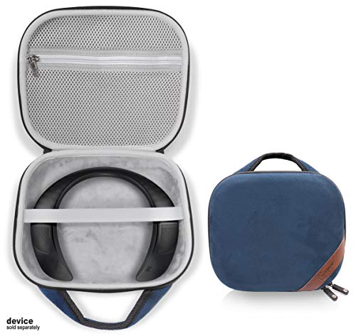 Protective Case for Bose Soundwear Companion Wireless Wearable Speaker by WGear, Featured Designed with Excellent Protection, Removable Mesh Pocket for Cable and Other accessorie (Blue)