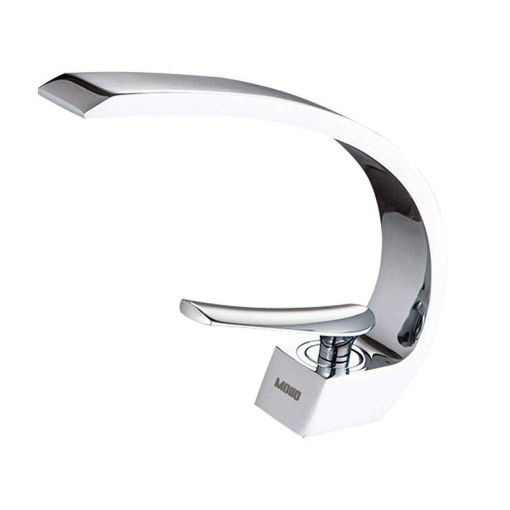 WEAO Bathroom Bathtub Hot Cold Water Faucet Seated Mixing Faucet Deck Mounted Sink Water Tap Home Decoration Bathroom Basin Faucet