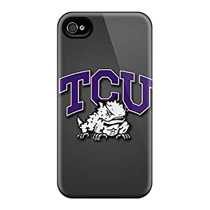 Tpu SaladCases Shockproof Scratcheproof Tcu Horned Frogs Hard Case Cover For Iphone 4/4s