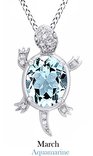 simulated-aquamarine-gemstone-natural-white-diamond-turtle-pendant-necklace-in-sterling-silver