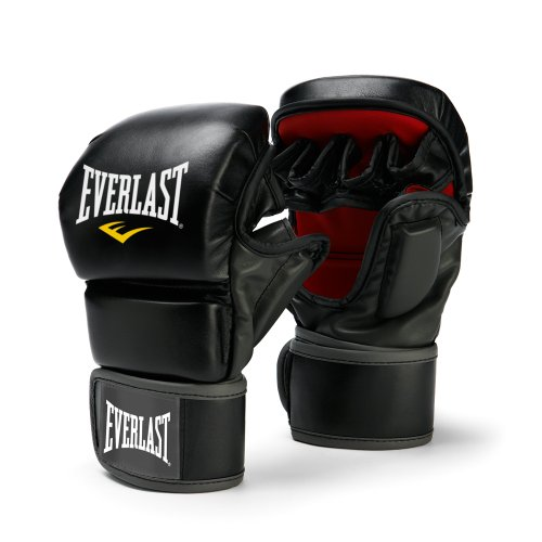 Everlast 7773LXL  Train Advanced MMA 7-Ounce Striking / Training Gloves (Black, Large / X-Large)