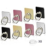 Cell Phone Ring Holder Stand, 8 Pack Phone Grip Car Mounts 360°Rotation
