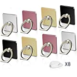 Fynix FYN-PR-21 360 Degree Rotation Cell Phone Ring Holder Stand, zinc Alloy, 8 Pack Compatible for iPhone X, 8, 7, 6s, Plus, Samsung Galaxy S6 S7, Note, LG, Google Pixel, Nokia, LG