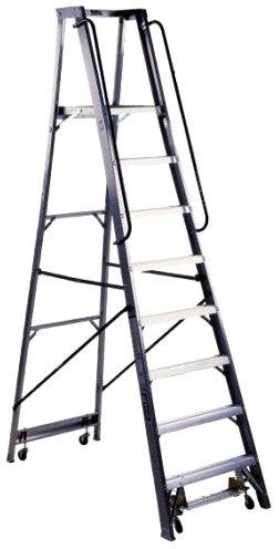 Louisville Ladder AP5010 300-Pound Duty Rating Aluminum Mobile Platform Ladder, 10-Foot