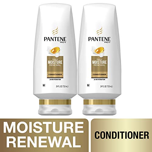 Pantene, Sulfate Free Conditioner, Pro-V Daily Moisture Renewal for Dry Hair, 24 fl oz, Twin ()