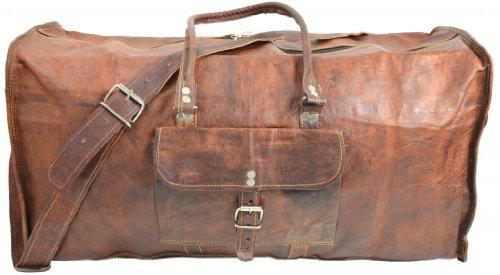0b787fdcb1 Gusti Cuir nature sac de voyage bagage à main bagage cabine besace cabas en cuir  sac de sports fourre-tout de voyage cuir véritable femme homme marron R13:  ...