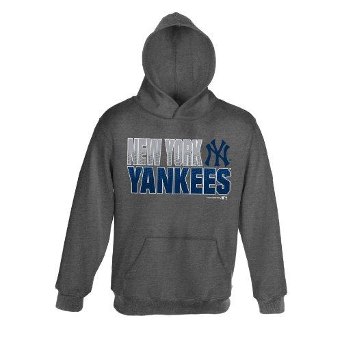 MLB New York Yankees Team Hoodie (Heather Grey), 3T