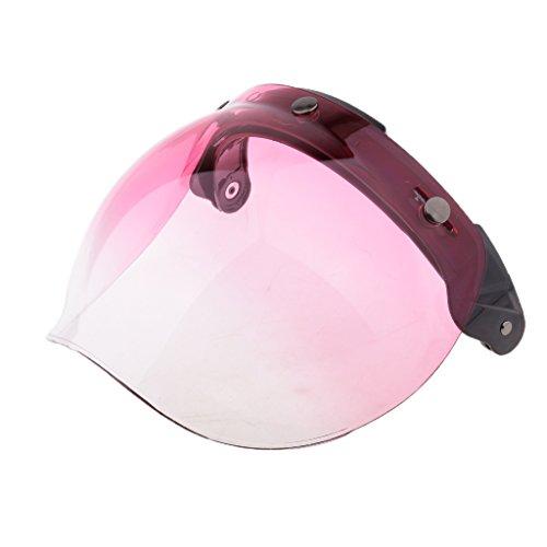 Homyl Escudo de Burbuja para 3-snap Cascos de Motocicleta - 4