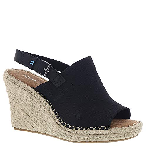 TOMS Women's, Monica Wedge Espadrille Black 11