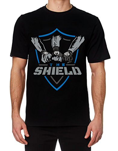 WWE The Shield T-Shirt - New Shield United Tee Shirt (L) by Teddy Outerwear