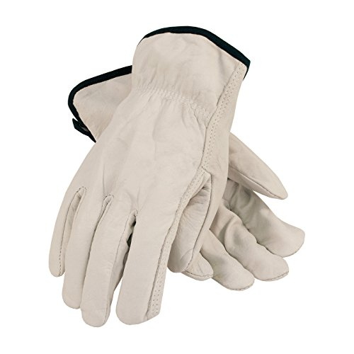 PIP 68-105/XL Economy Grade Top Grain Cowhide Leather Driver's Glove, Straight Thumb Economy Drivers Glove