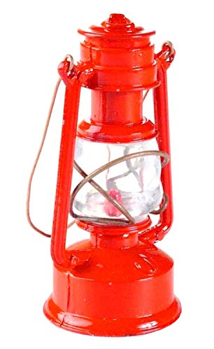 Metal Red Railroad Lantern Miniature Die Cast Pencil Sharpener