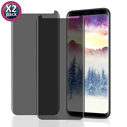 2 pack Galaxy S9 Glass Screen Protector,[9H Hardness] [Crystal Clear] [Bubble Free] Screen Protector Film