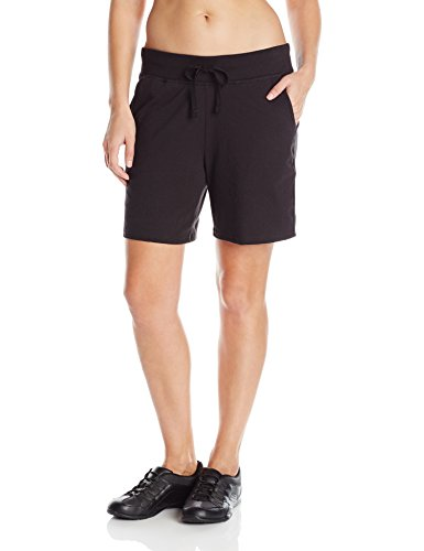 Hanes Women's Jersey Short, Black, (Regular Tie End)