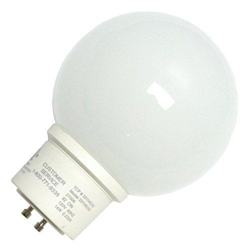 (12-Pack) TCP 33114G30 14W 2700K GU24 Base Covered CFL G30 Globe Lamp, 60W Equivalent