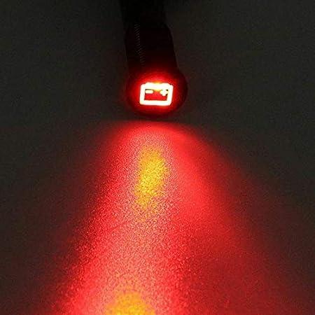 12/V 12/mm LED Indicator Piloto Dash Advertencia Panel indicador para luz de advertencia de coche