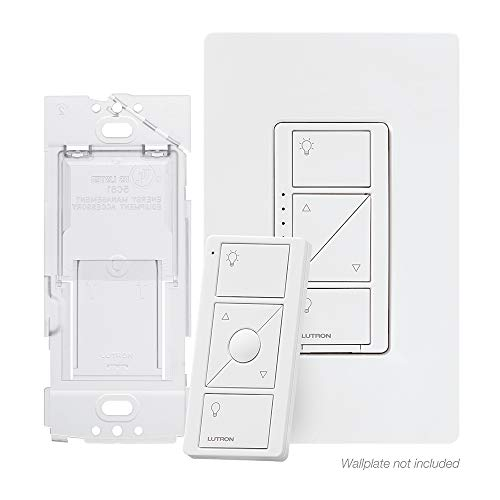 Lutron Caseta Wireless Smart Dimmer Switch and Remote Kit, P-PKG1WB-WH White (3 Way Led Dimmer Switch With Remote)