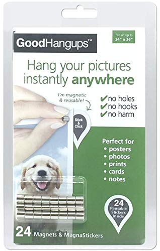 GoodHangups Damage Free Magnetic Poster and Picture Hangers