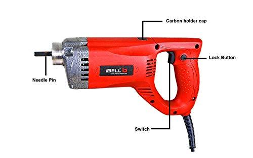 IBELL Concrete Vibrator CV 50-81, 1050W, 5000 RPM, 35mm/2 m Needle (Red) 3