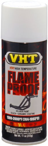 VHT ESP118000 FlameProof Coating Flat White Primer Can - 11 oz.