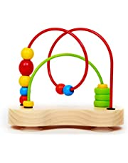 Hape E1801 Double Bubble Wooden Toddler Bead Maze