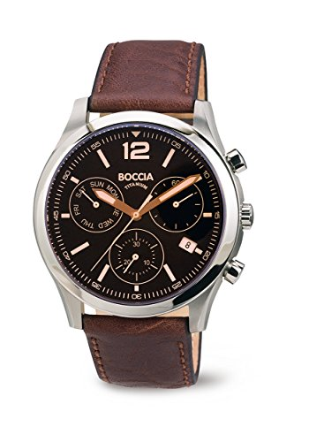 3757-01 Mens Boccia Titanium Chronograph Watch