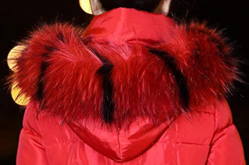 Parka Incappucciato Pelliccia Delle Donne Il Di Inverno Gocgt Cappotto Cappotto Lungo Ispessiscono Giù Tagliare Puffer Rosso WR1gxOPwqa