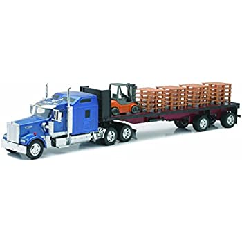 best Kenworth W900 Cement Mixer in White 1:32 Scale Moving Parts