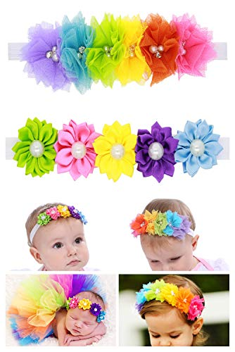 Princess Headband Rose Flower Headband with Multiple Colour for Baby Girls Costume Kids Cosplay