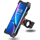 """Bovon Bike Phone Mount, Universal Adjustable Bicycle Motorcycle Phone Holder Cradle Clamp for iPhone X/XR/XS MAX/8/7/6 Plus, Samsung Galaxy S10/S10e/S9/S8 Plus and Most 3.5""""-6.5"""" Phones"""