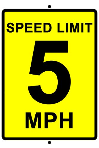 Speed Limit 5 MPH Aluminum Sign 8