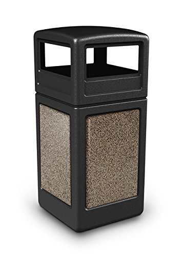 Stonetec Series Panel with Dome Lid Capacity: 42 gallon, Color: Brown with Riverstone
