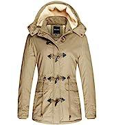 Wantdo Women's Windproof Warm Coat Winter Casual Fleece Coat Classic Cotton Hoodie Jacket Ladies ...