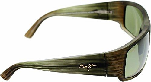 Maui Jim World Cup Matte Green Stripe Rubber Maui HT Vert