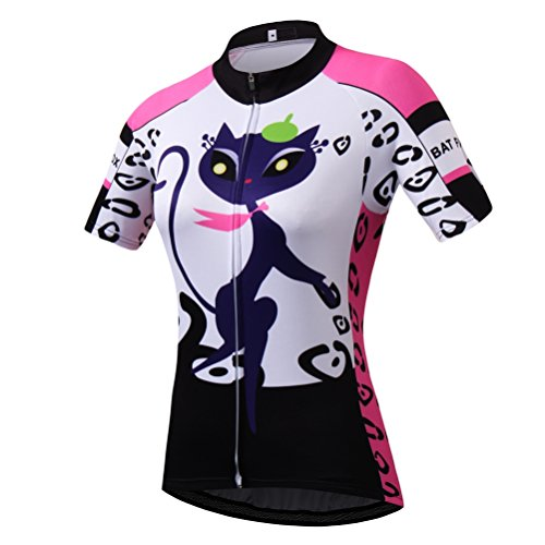 Uriah Women's Cycling Jersey Short Sleeve Cat Pink Size M(CN)