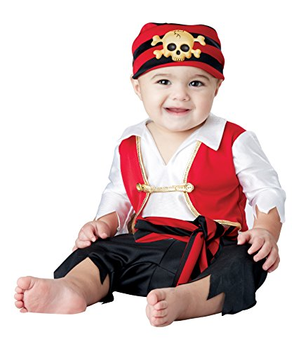 California Costumes Baby Boys' Pee Wee Pirate Infant, Black/White/red, 12 to 18 Months -