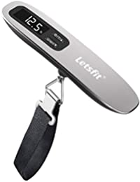 Digital Luggage Scale, 110lbs Hanging Baggage Scale with Backlit LCD Display, Portable Suitcase Weighing Scale, Travel Luggage Weight Scale with Hook, Strong Straps for Travelers