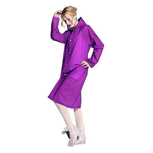 of C Jacket High Translucent Made Eco Raincoat Rainwear Girl ColorDrip EVA for Lady Material friendly Purple Woman Rain Quality Fashion IvwFnqRx47