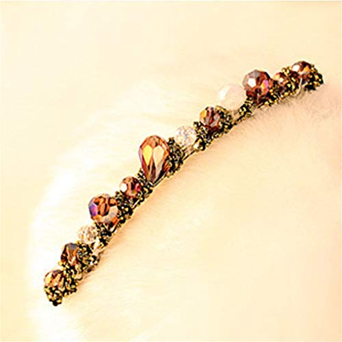 1 Pc Headwear Women Fashion Crystal Rhinestone Barrette Girl Hair Clip Pins Purple