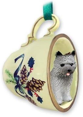 Rat Terrier Christmas Ornament Teacup