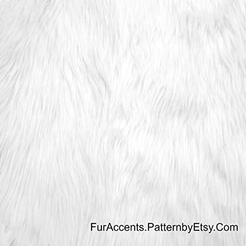 (Plush Faux Fur - Cut Yardage - Craft Fur - Fashion Fur - Fabric - Shaggy - Shag by The Inch or by The Yard - Acrylic - Polyester - Fur Accents - Fur and Fabric Brand (6