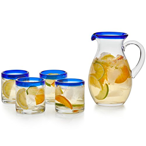 (Libbey Sangria Entertaining Set with 4 Rocks Glasses and Pitcher )